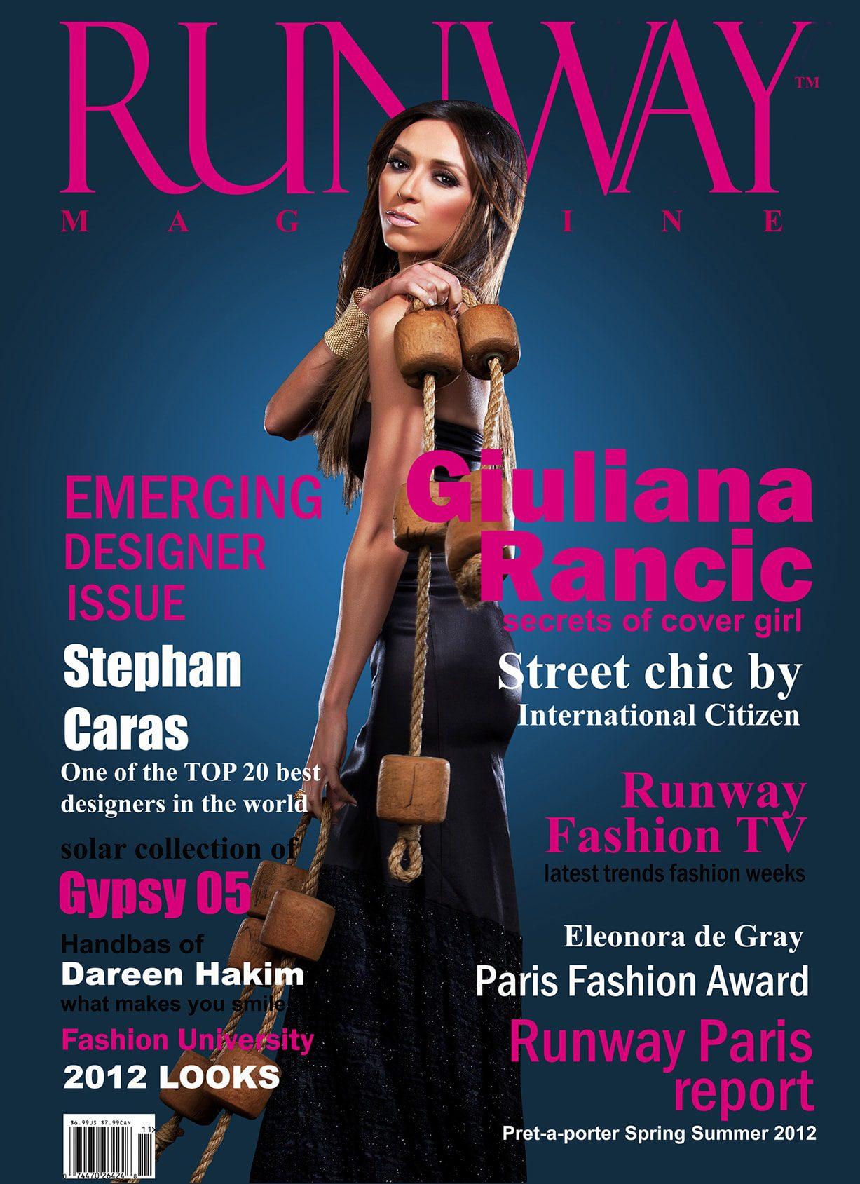RUNWAY MAGAZINE cover 2012