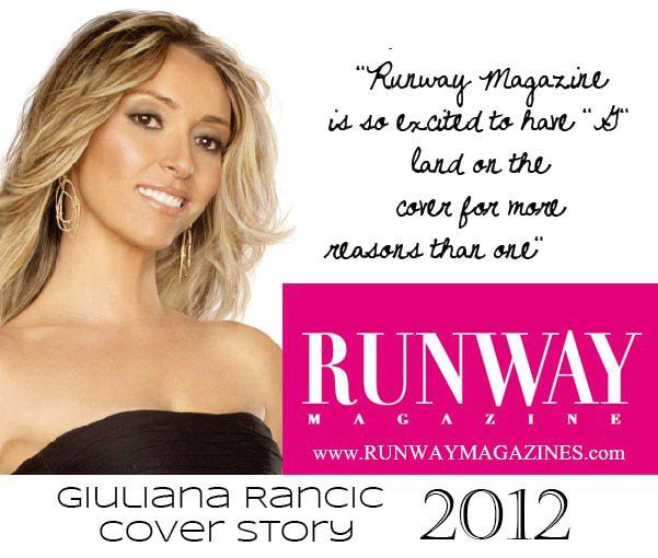 Giuliana Rancic Runway Magazine Cover