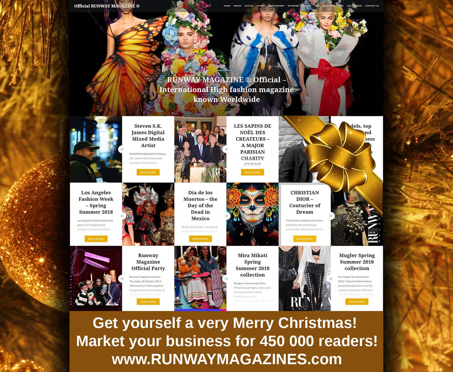 Runway-Magazine-Official-France-USA-web-site-NewYork-Paris-gold RUNWAY MAGAZINE - Merry Your Market for Christmas