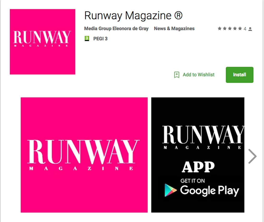 RUNWAY MAGAZINE on Google Play