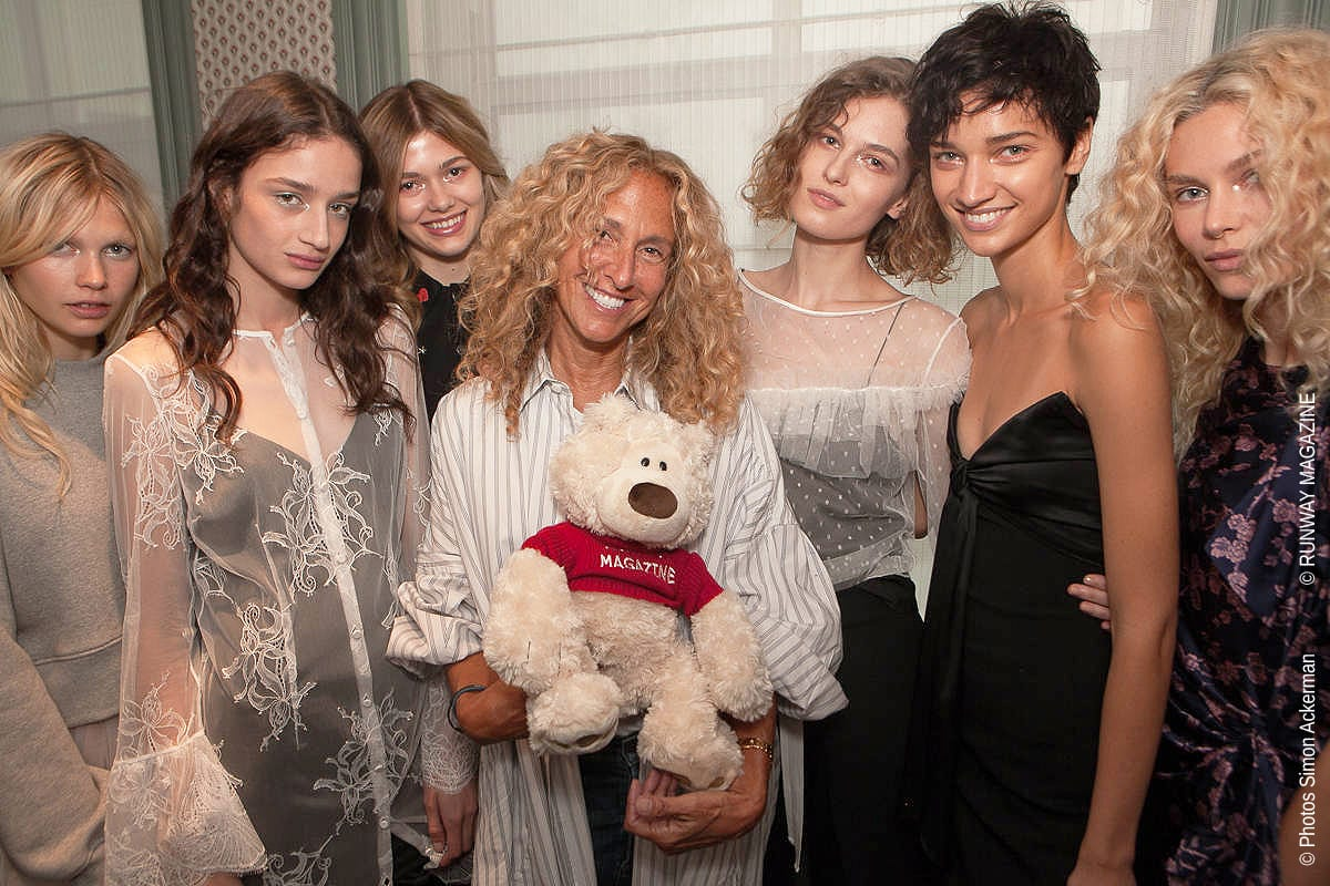 "Jane Siskin, founder of ""Cinq a Sept"" at New York Fashion Week with Runway Magazine TEDDY RUNWAY"