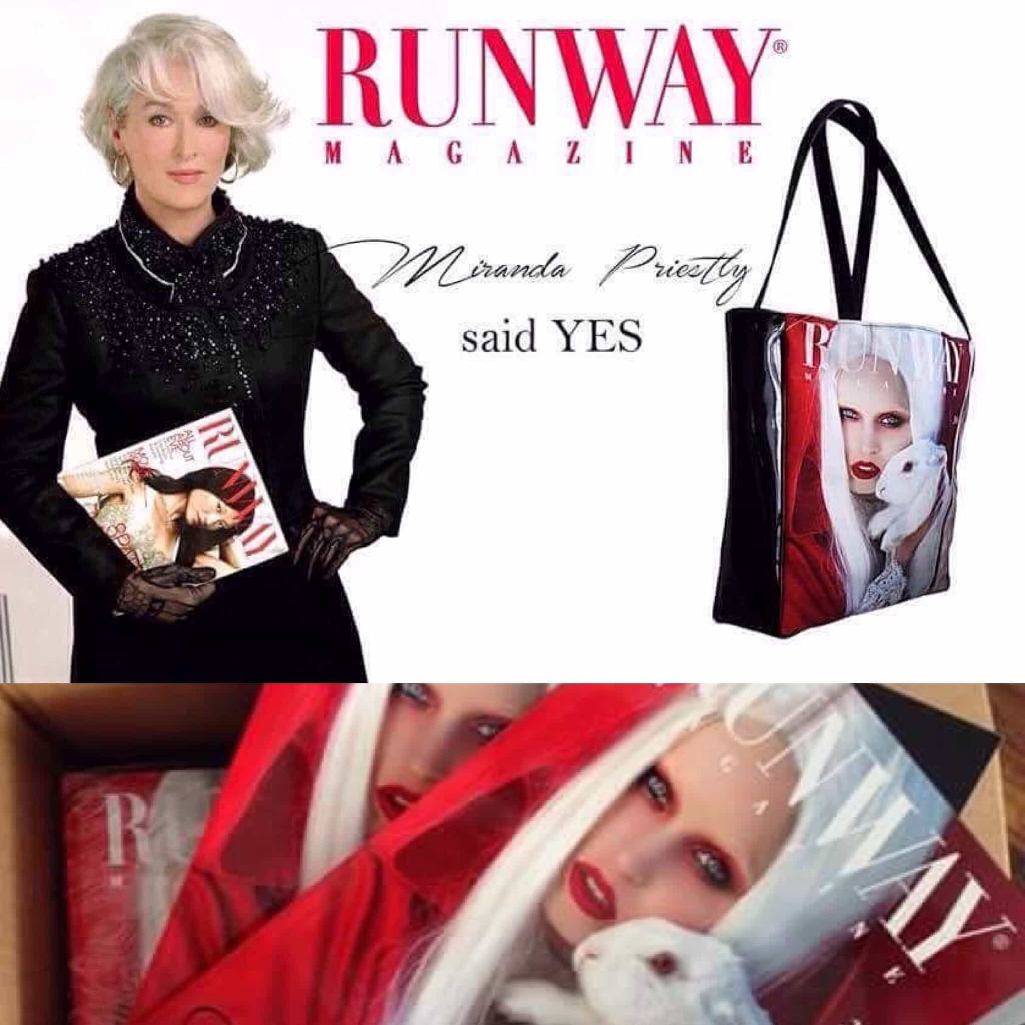 Runway Magazine ® presents new runway bag !