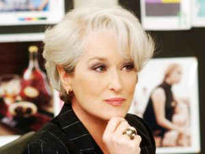 Meryl Streep as Editor-in-Chief of RUNWAY MAGAZINE